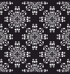 tile black and white pattern for seamless vector image