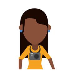 Traveler or tourist avatar icon image vector