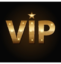 VIP golden icons in black background vector