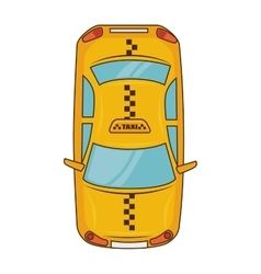 Yellow taxi car vehicle service vector