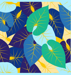 abstract pattern with palm leaves vector image vector image