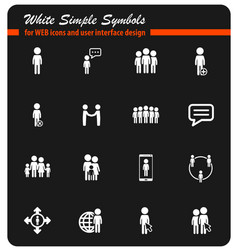 community simply icons vector image