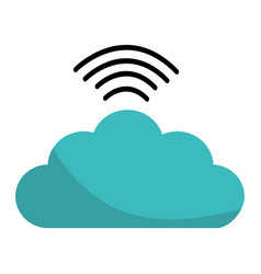 digital cloud data wifi connect vector image vector image
