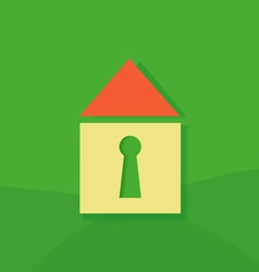 House icon on a green background vector image
