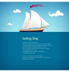 Yacht at Sea Brochure Design vector image vector image