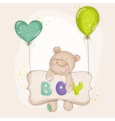Baby Bear with Balloons - Baby Shower vector image vector image