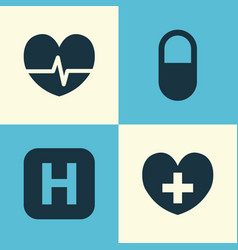 medicine icons set collection of hospital pellet vector image vector image