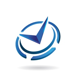 Modern Time Clock Logo vector image vector image