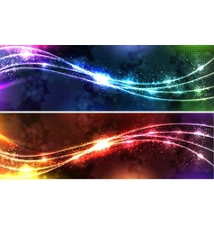 neon wave Set vector image