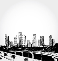 Sketch of a Big City vector image vector image
