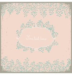 Elegant floral design Floral background for your vector image vector image