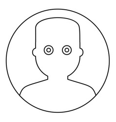 man face with wide eyed icon outline style vector image