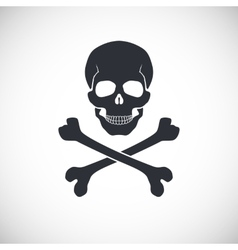 Skull and crossbones sign vector image