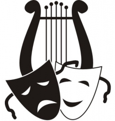 theater symbols vector image vector image