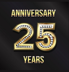 25 years anniversary card design design vector image