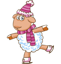 cartoon sheep character vector image vector image