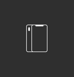 flat outline style smartphone icon vector image