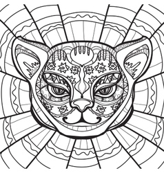 Hand drawn in zentangle style vector image