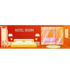 Hotel Apartment Interior Template vector image