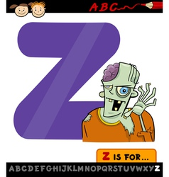 letter z for zombie cartoon vector image