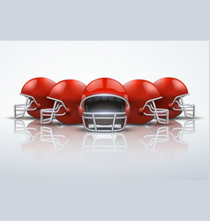 sport background with american football helmets vector image vector image