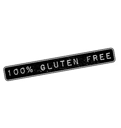 100 percent gluten free rubber stamp vector image