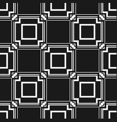 Abstract art deco black geometric seamless pattern vector