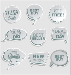 abstract modern sticker collection 4 vector image