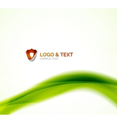 Abstract shiny blur wave green eco background vector