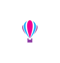 Air balloon colorful logo vector