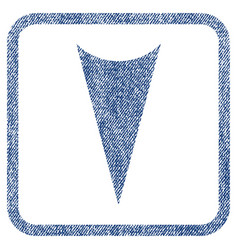 arrowhead down fabric textured icon vector image