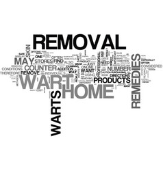 At home wart removal text word cloud concept vector
