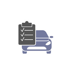 auto service isolated icon on white background vector image
