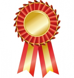 award seal rosette vector image