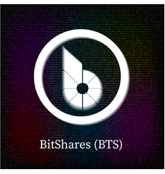 Bitshares symbol on dark binary code background vector