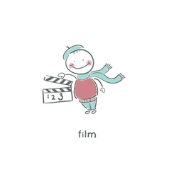 Blank Film slate or clapboard vector