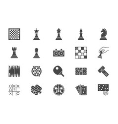 board games flat icons vector image