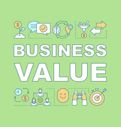 Business value word concepts banner vector