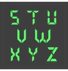 Calculator digital green text vector
