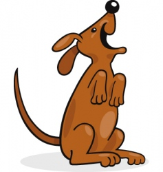 Cartoon dog barking vector
