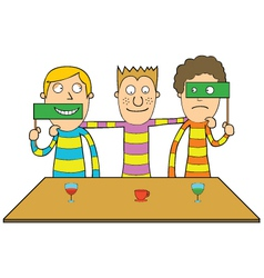 Cartoon friends playing vector