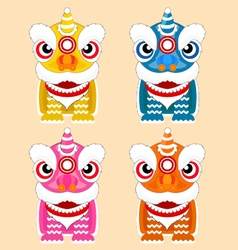 Chinese lion dance festival vector