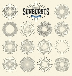 Collection of sunbursts vector image