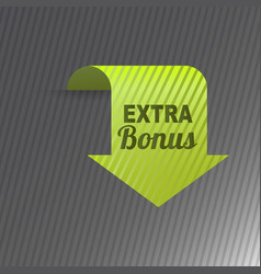 colorful website extra bonus arrow button design vector image vector image