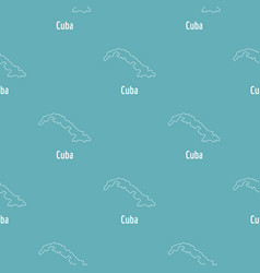 cuba map thin line simple vector image