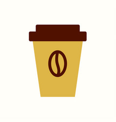 cup coffee icon flat style vector image