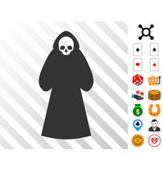 Death hood man icon with bonus vector