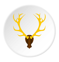 deer antler icon circle vector image vector image