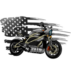 Design motorbike with american flag vector