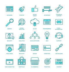 development signs thin line icon set vector image